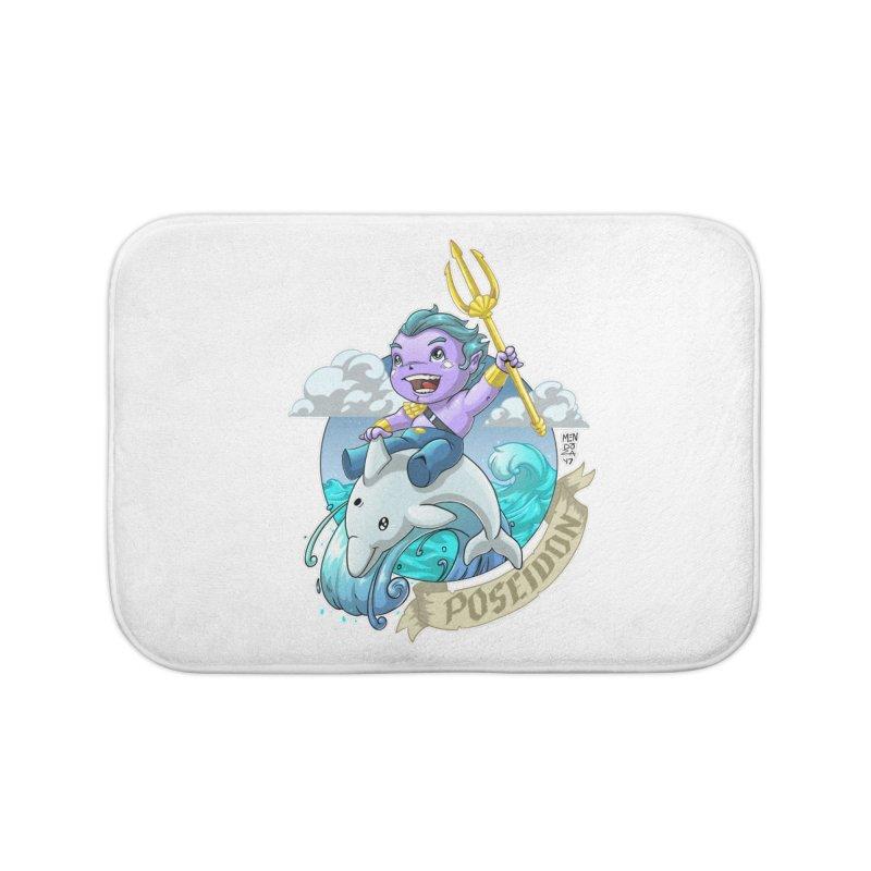 Poseidon! WEEEEEEE!!!! Home Bath Mat by Little Ninja Studios, LLC