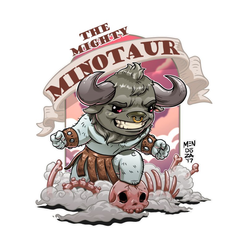 The Mighty Minotaur Home Fine Art Print by Little Ninja Studios