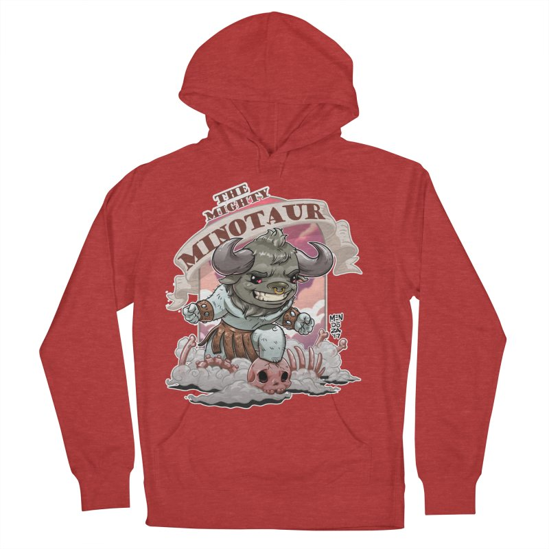 The Mighty Minotaur Men's French Terry Pullover Hoody by Little Ninja Studios, LLC