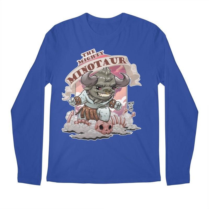 The Mighty Minotaur Men's Regular Longsleeve T-Shirt by Little Ninja Studios, LLC