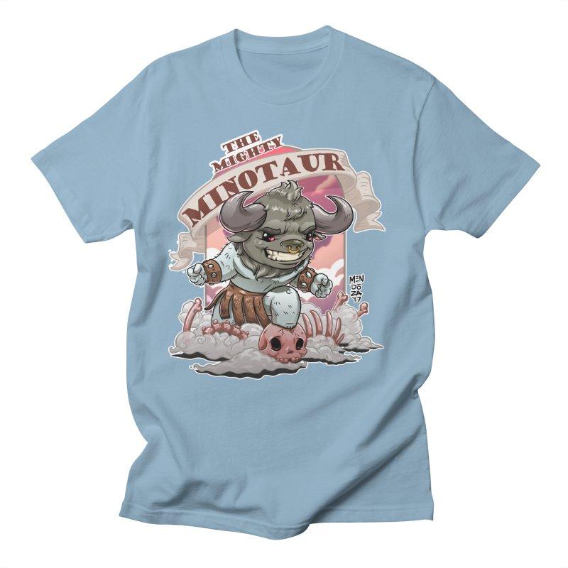 The Mighty Minotaur Men's Regular T-Shirt by Little Ninja Studios, LLC