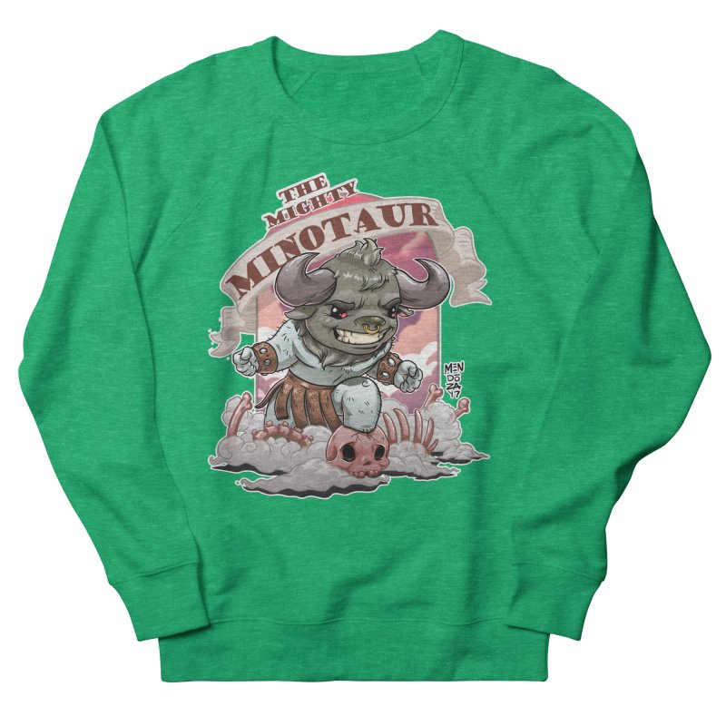 The Mighty Minotaur Women's French Terry Sweatshirt by Little Ninja Studios, LLC