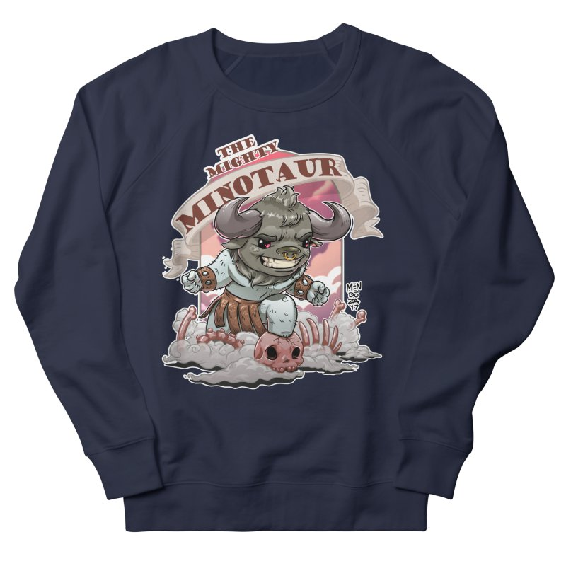 The Mighty Minotaur Men's French Terry Sweatshirt by Little Ninja Studios