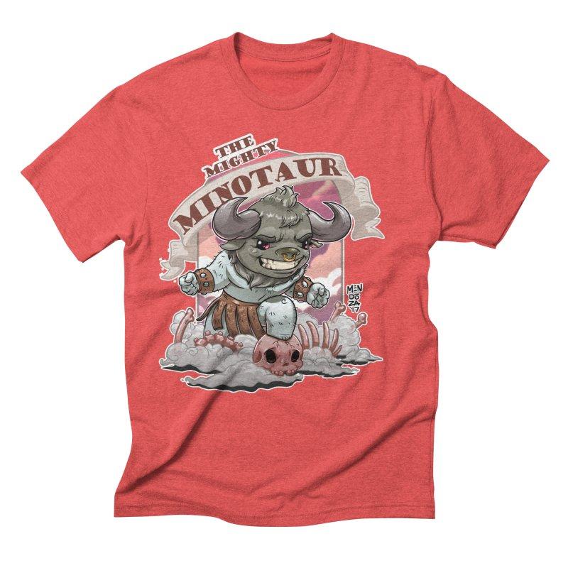 The Mighty Minotaur Men's Triblend T-Shirt by Little Ninja Studios