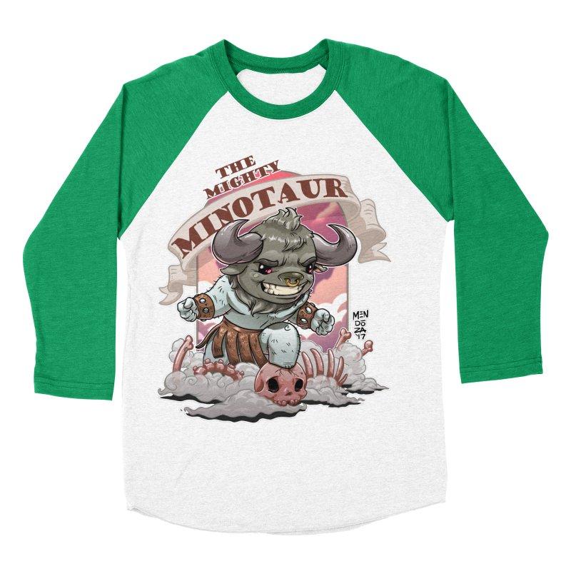 The Mighty Minotaur Women's Baseball Triblend Longsleeve T-Shirt by Little Ninja Studios