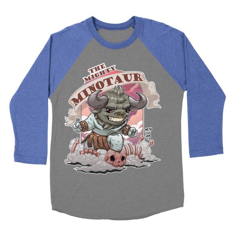 The Mighty Minotaur Women's Baseball Triblend Longsleeve T-Shirt by Little Ninja Studios, LLC