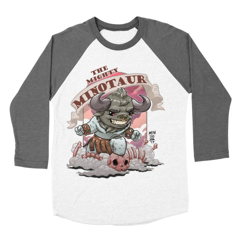 The Mighty Minotaur Men's Baseball Triblend Longsleeve T-Shirt by Little Ninja Studios, LLC