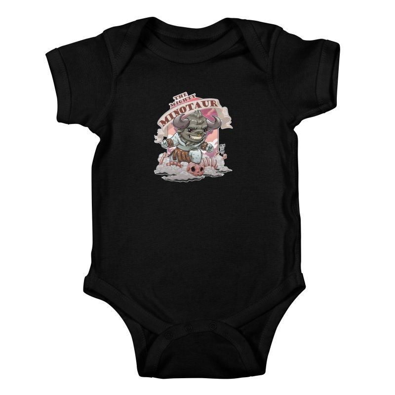 The Mighty Minotaur Kids Baby Bodysuit by Little Ninja Studios, LLC
