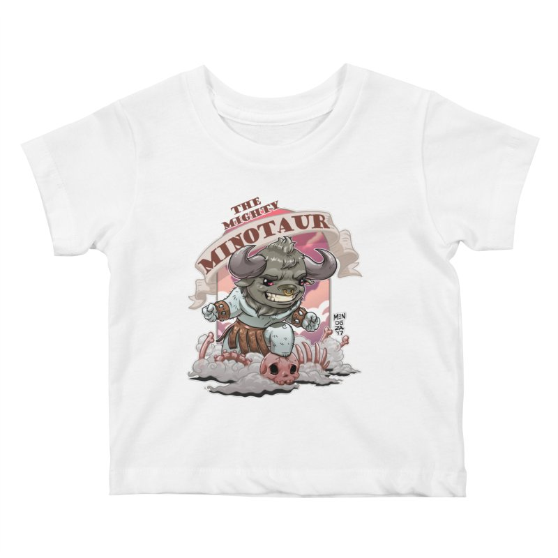 The Mighty Minotaur Kids Baby T-Shirt by Little Ninja Studios, LLC