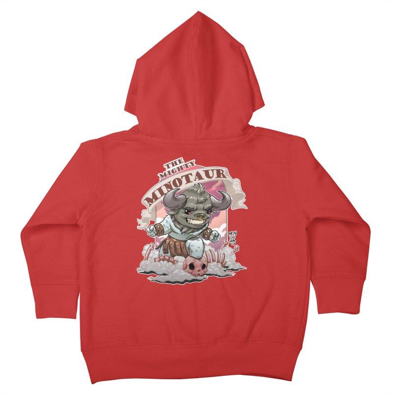 The Mighty Minotaur Kids Toddler Zip-Up Hoody by Little Ninja Studios, LLC