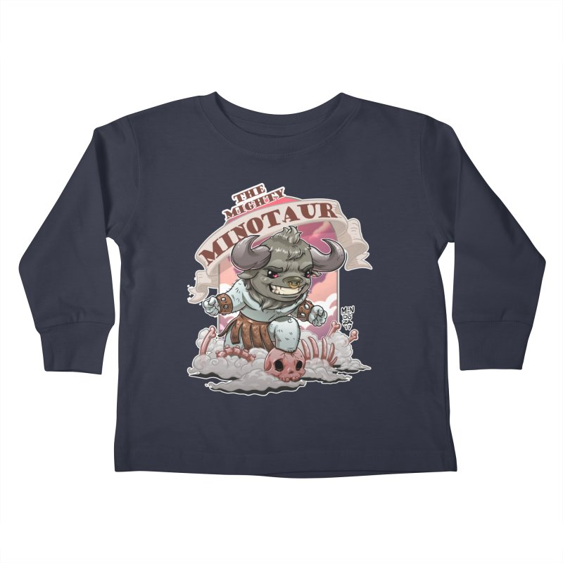 The Mighty Minotaur Kids Toddler Longsleeve T-Shirt by Little Ninja Studios