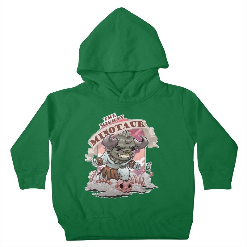 The Mighty Minotaur Kids Toddler Pullover Hoody by Little Ninja Studios, LLC