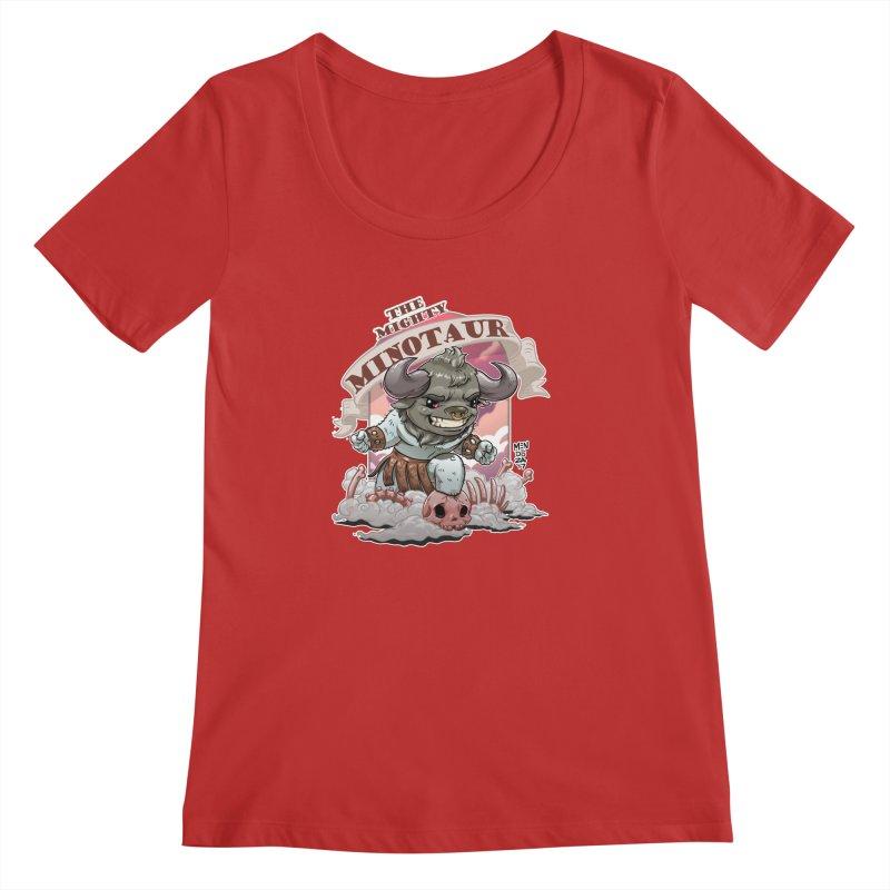 The Mighty Minotaur Women's Regular Scoop Neck by Little Ninja Studios, LLC