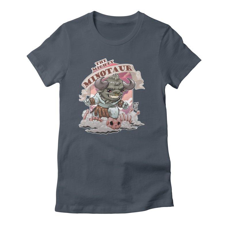 The Mighty Minotaur Women's T-Shirt by Little Ninja Studios