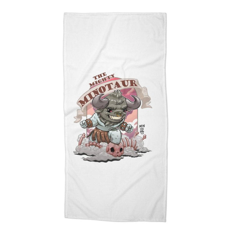 The Mighty Minotaur Accessories Beach Towel by Little Ninja Studios, LLC