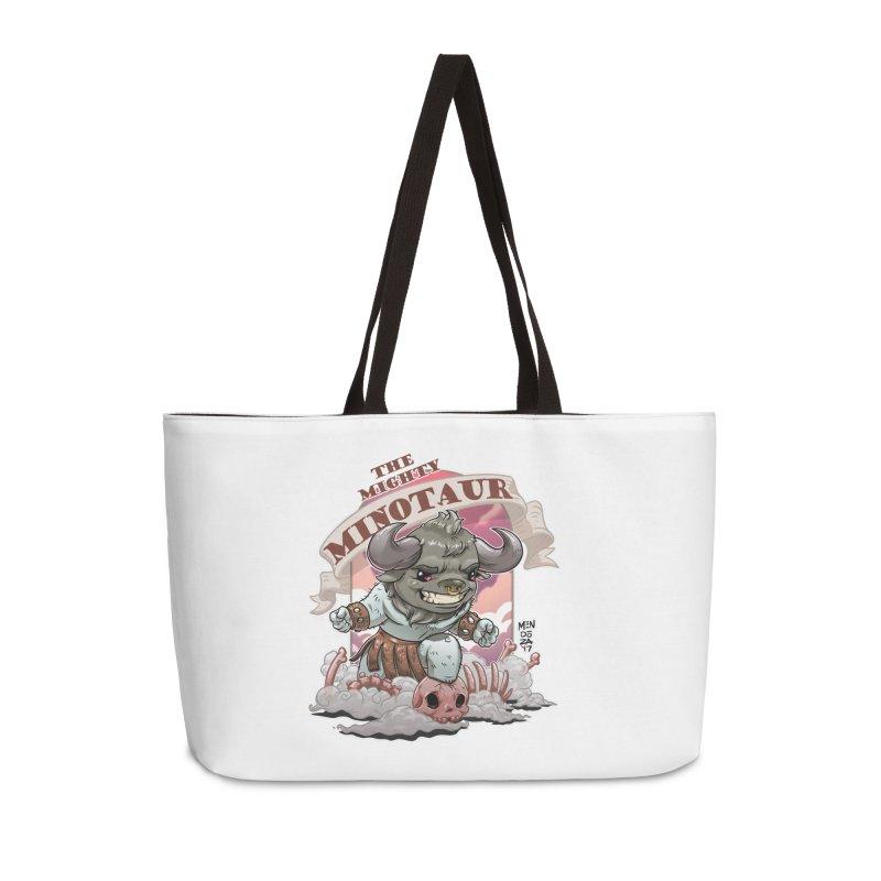 The Mighty Minotaur Accessories Weekender Bag Bag by Little Ninja Studios
