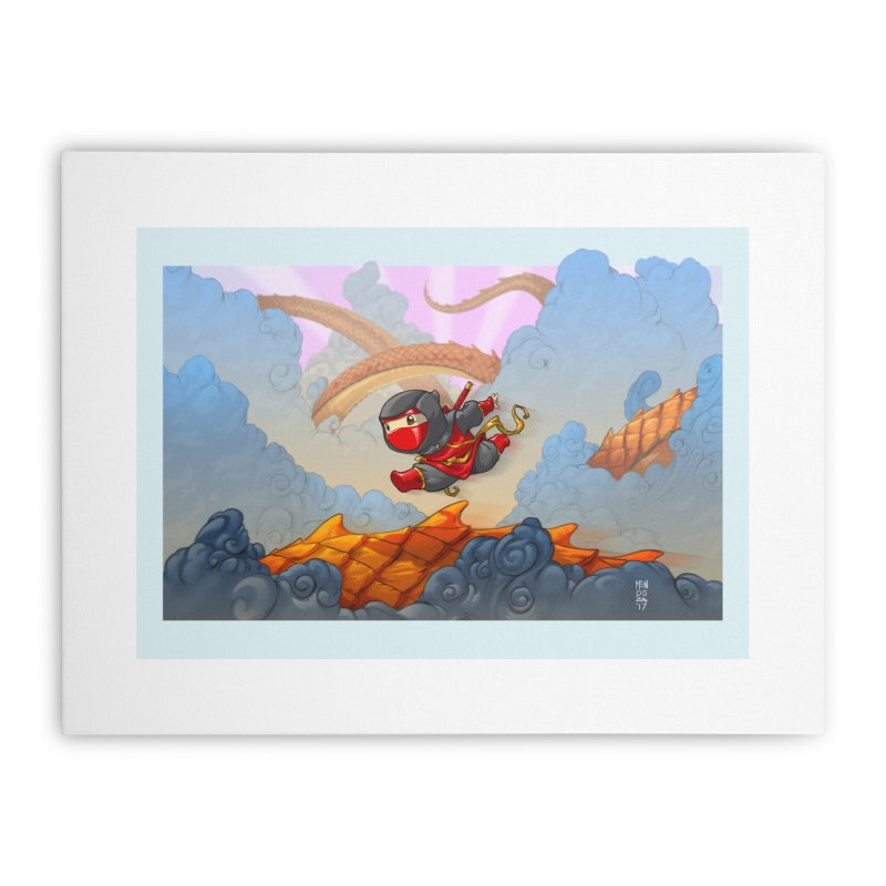 JUMP! Home Stretched Canvas by Little Ninja Studios, LLC