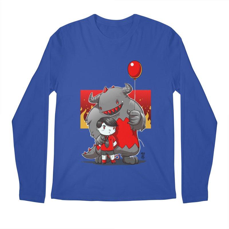 Damien: Best Friends Men's Regular Longsleeve T-Shirt by Little Ninja Studios, LLC