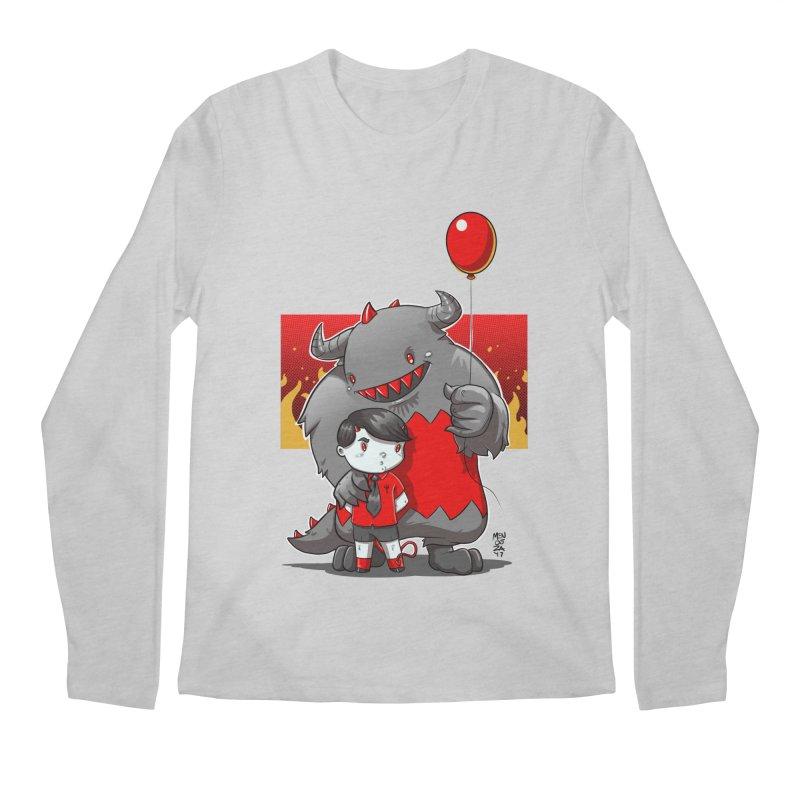 Damien: Best Friends Men's Regular Longsleeve T-Shirt by Little Ninja Studios