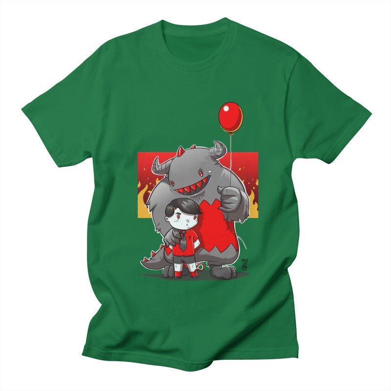 Damien: Best Friends Men's Regular T-Shirt by Little Ninja Studios, LLC