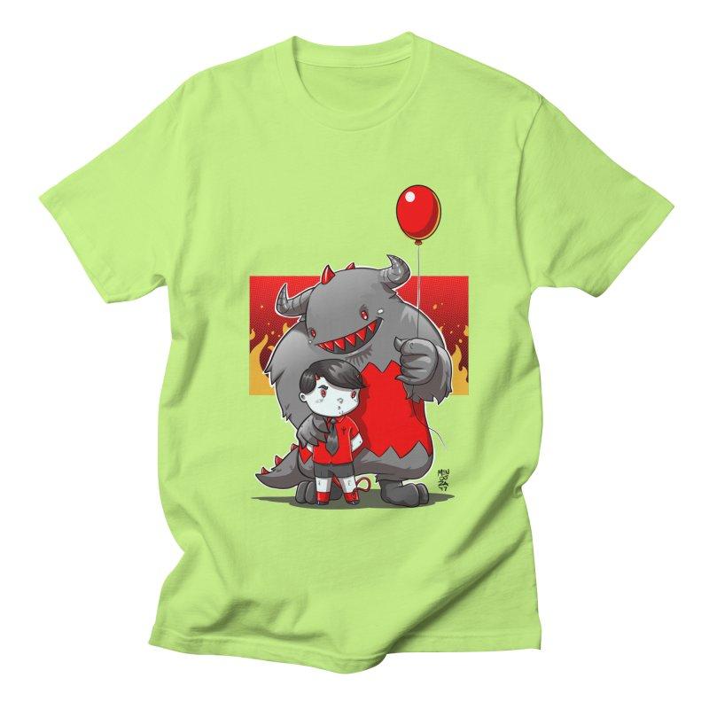 Damien: Best Friends Men's Regular T-Shirt by Little Ninja Studios