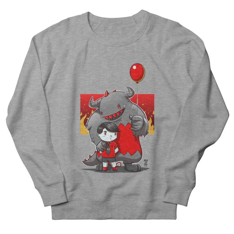 Damien: Best Friends Men's French Terry Sweatshirt by Little Ninja Studios, LLC