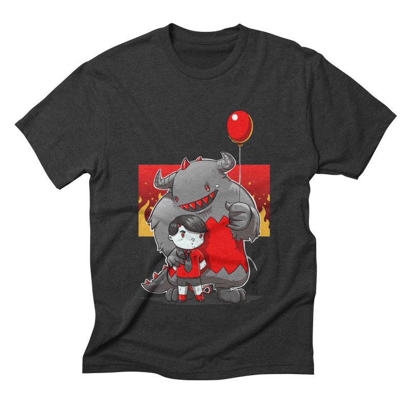 Damien: Best Friends Men's Triblend T-Shirt by Little Ninja Studios, LLC