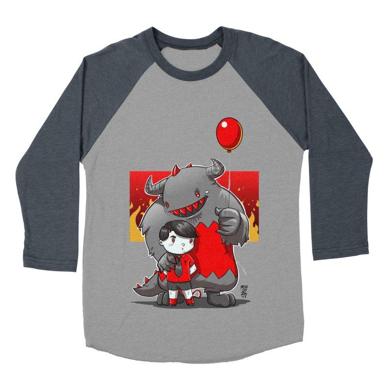 Damien: Best Friends Men's Baseball Triblend Longsleeve T-Shirt by Little Ninja Studios, LLC