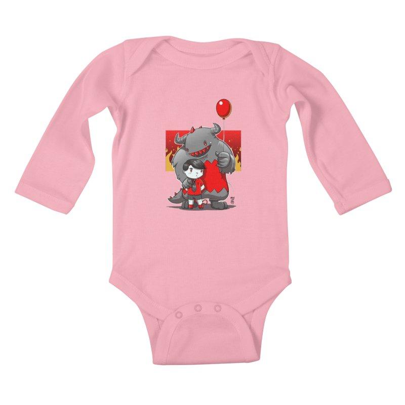 Damien: Best Friends Kids Baby Longsleeve Bodysuit by Little Ninja Studios, LLC