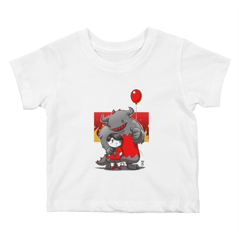 Damien: Best Friends Kids Baby T-Shirt by Little Ninja Studios, LLC
