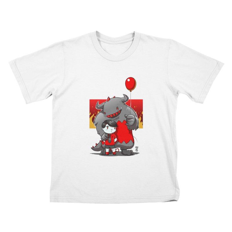 Damien: Best Friends Kids T-Shirt by Little Ninja Studios