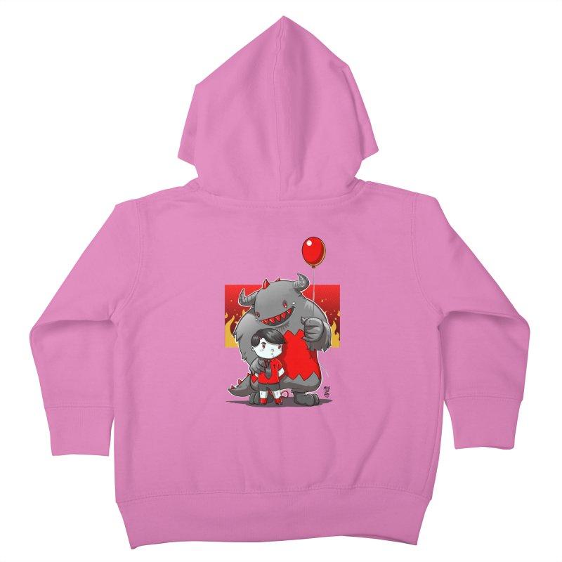 Damien: Best Friends Kids Toddler Zip-Up Hoody by Little Ninja Studios, LLC