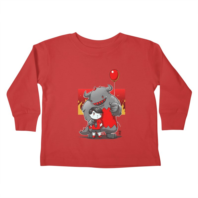 Damien: Best Friends Kids Toddler Longsleeve T-Shirt by Little Ninja Studios, LLC