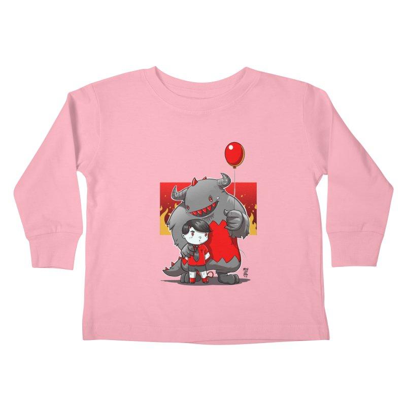 Damien: Best Friends Kids Toddler Longsleeve T-Shirt by Little Ninja Studios, LLC