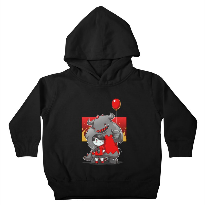 Damien: Best Friends Kids Toddler Pullover Hoody by Little Ninja Studios