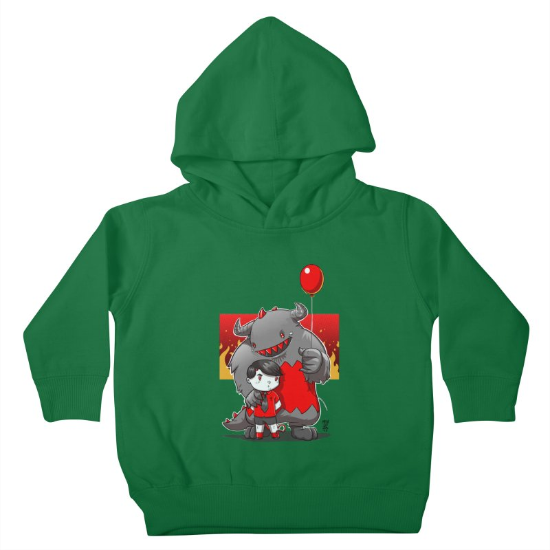 Damien: Best Friends Kids Toddler Pullover Hoody by Little Ninja Studios, LLC