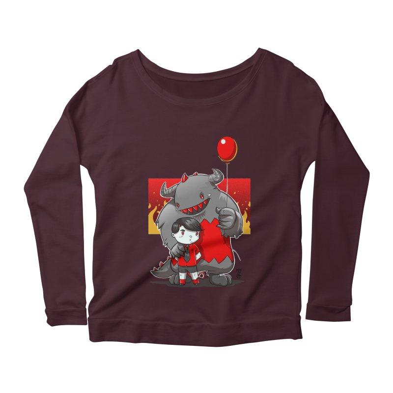 Damien: Best Friends Women's Scoop Neck Longsleeve T-Shirt by Little Ninja Studios, LLC