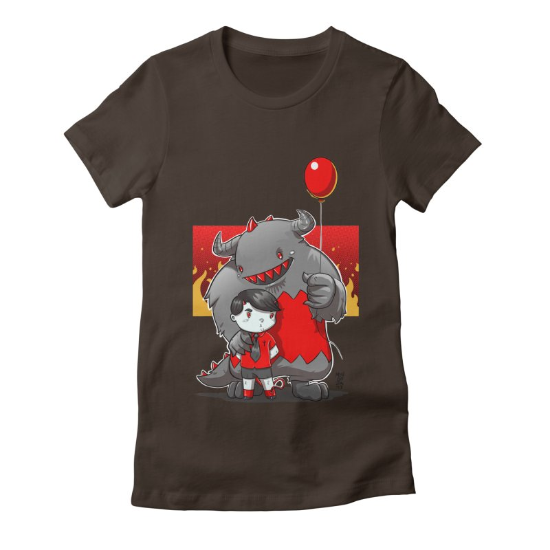 Damien: Best Friends Women's Fitted T-Shirt by Little Ninja Studios, LLC