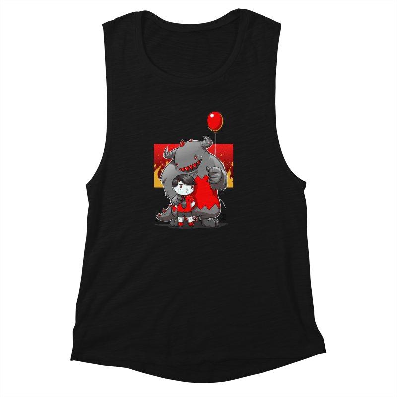 Damien: Best Friends Women's Muscle Tank by Little Ninja Studios, LLC
