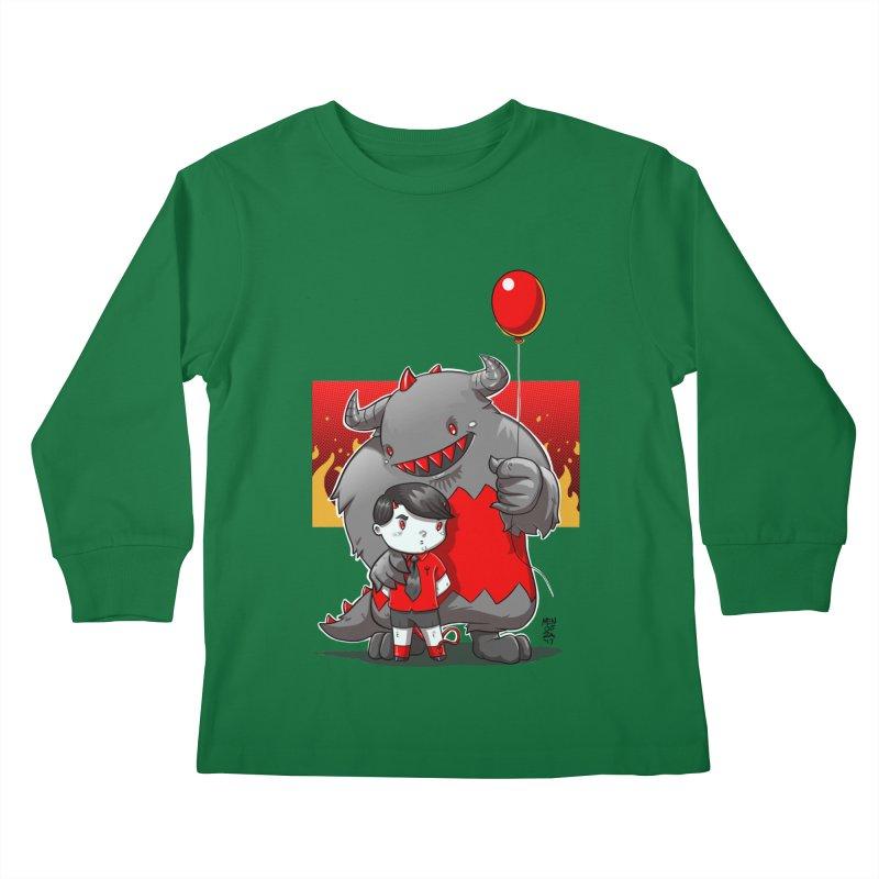 Damien: Best Friends Kids Longsleeve T-Shirt by Little Ninja Studios, LLC
