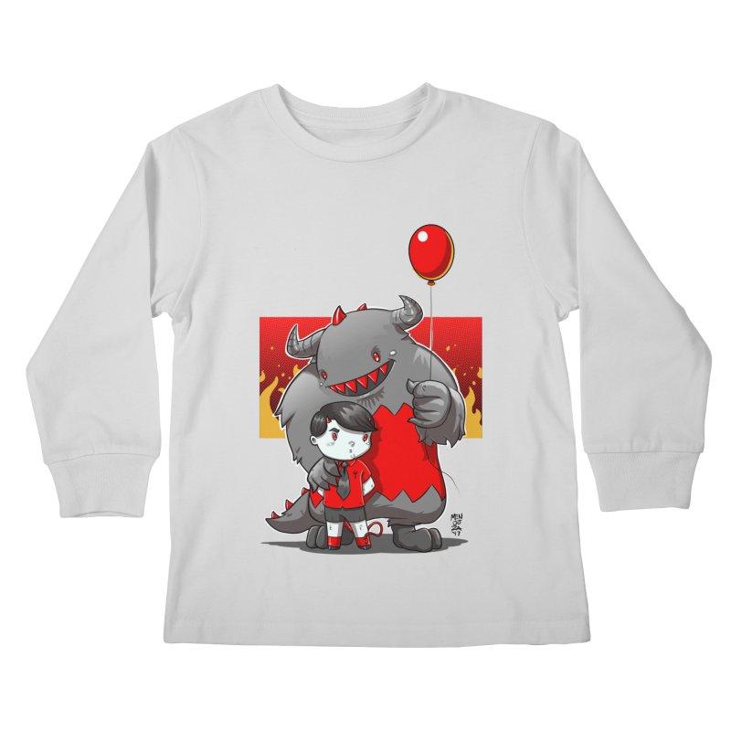 Damien: Best Friends Kids Longsleeve T-Shirt by Little Ninja Studios