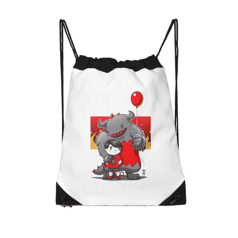Damien: Best Friends Accessories Drawstring Bag Bag by Little Ninja Studios