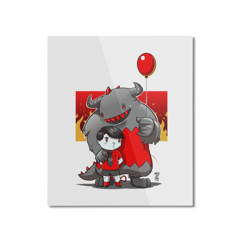 Damien: Best Friends Home Mounted Aluminum Print by Little Ninja Studios