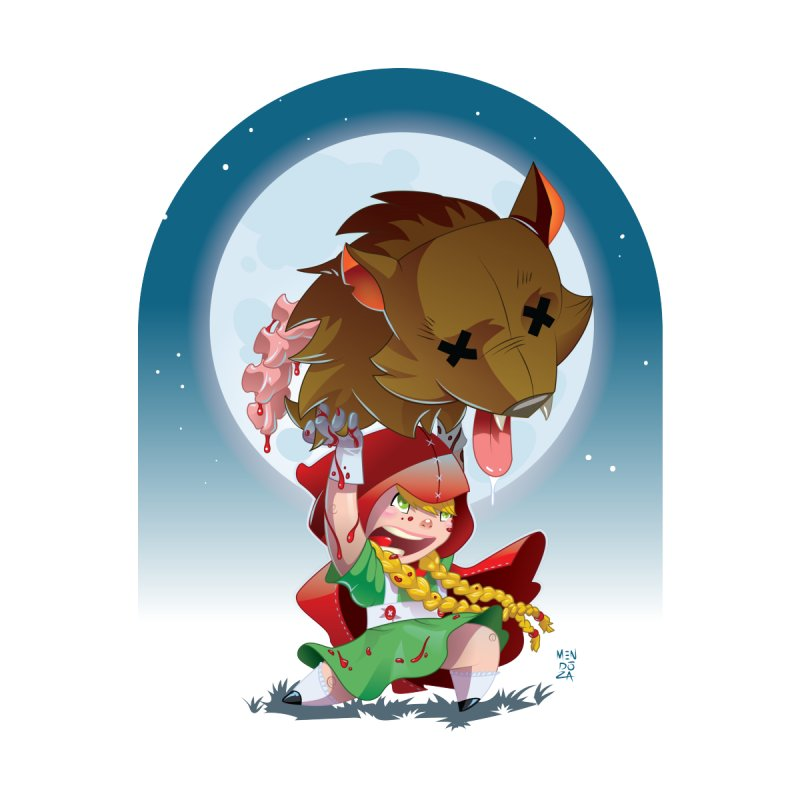 Lil' Red Home Fine Art Print by Little Ninja Studios