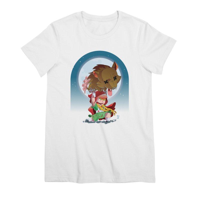 Lil' Red Women's Premium T-Shirt by Little Ninja Studios, LLC