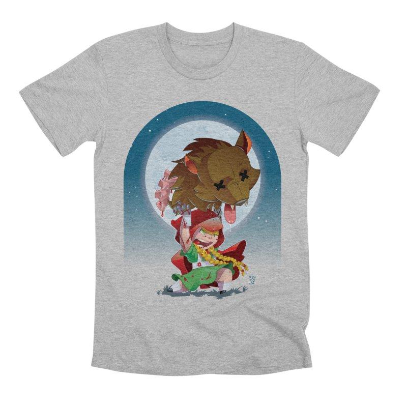 Lil' Red Men's Premium T-Shirt by Little Ninja Studios, LLC