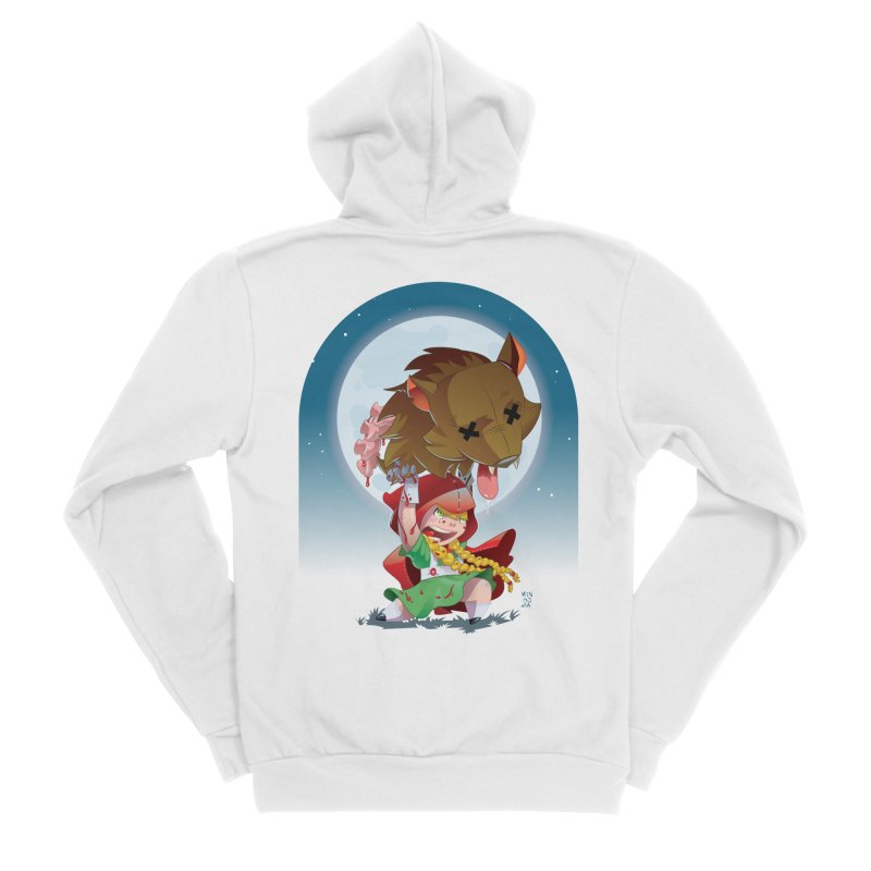 Lil' Red Women's Sponge Fleece Zip-Up Hoody by Little Ninja Studios, LLC