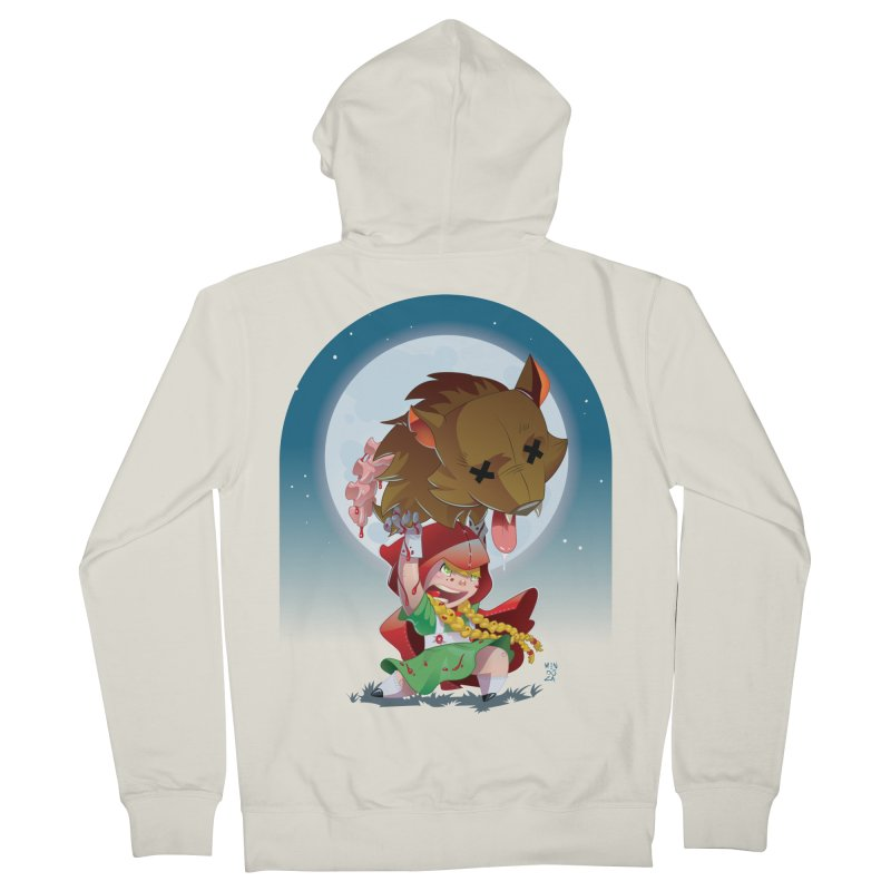 Lil' Red Women's French Terry Zip-Up Hoody by Little Ninja Studios