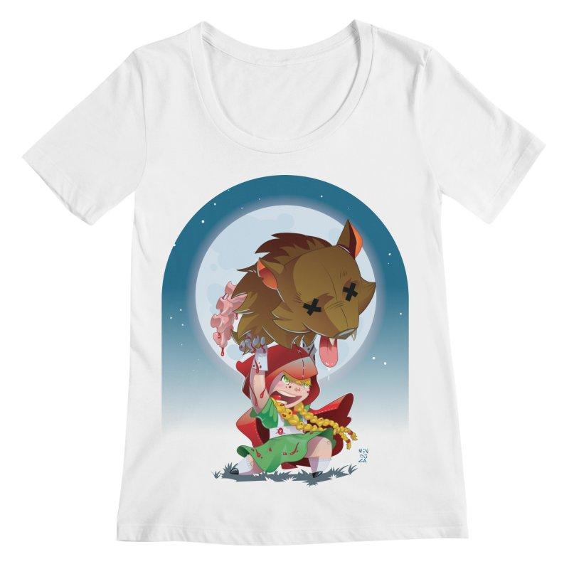 Lil' Red Women's Regular Scoop Neck by Little Ninja Studios, LLC