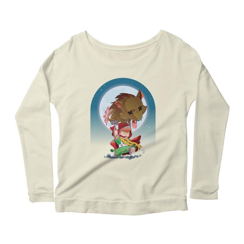 Lil' Red Women's Scoop Neck Longsleeve T-Shirt by Little Ninja Studios, LLC